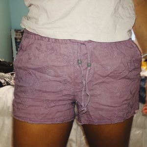 Anthropology purple shorts